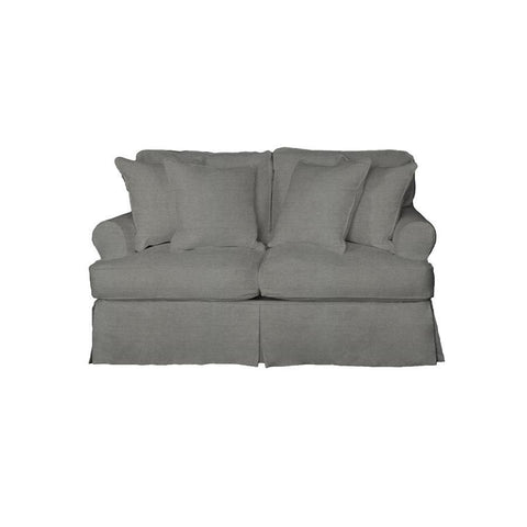 Sunset Trading Horizon Loveseat - Slip Cover Set Only - Performance Gray