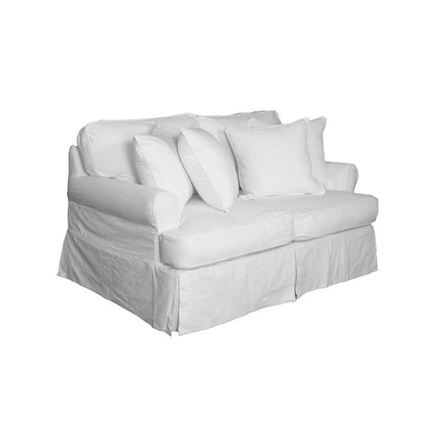 Sunset Trading Horizon Loveseat - Slip Cover Set Only - Warm White