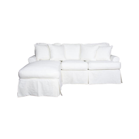 Sunset Trading Horizon Sleeper Sofa & Chaise - Slip Cover Set Only - Warm White