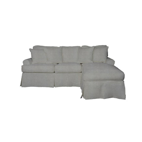 Sunset Trading Horizon Slipcover Only for Sleeper Sofa & Chaise - Performance Gray