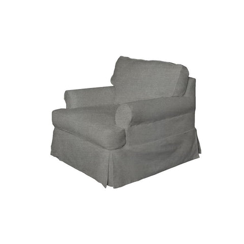 Sunset Trading Horizon Slipcovered Chair - Performance Gray