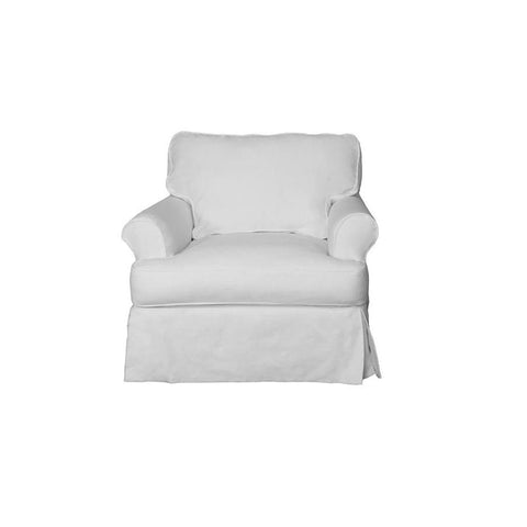 Sunset Trading Horizon Slipcovered Chair - Performance White