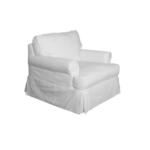 Sunset Trading Horizon Slipcovered Chair in Warm White