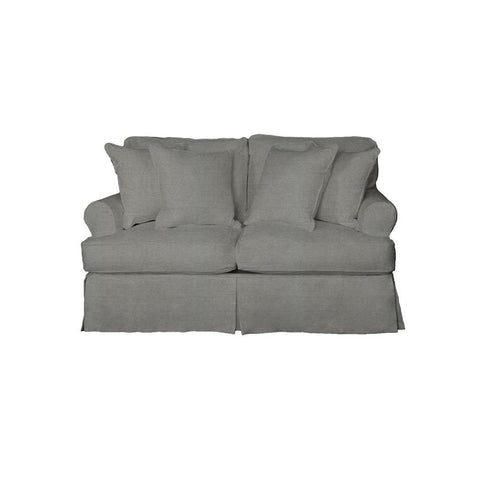 Sunset Trading Horizon Slipcovered Loveseat - Performance Gray
