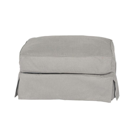 Sunset Trading Horizon Slipcovered Ottoman - Performance Gray