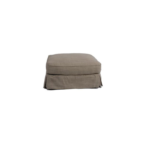Sunset Trading Horizon Slipcovered Ottoman in Linen