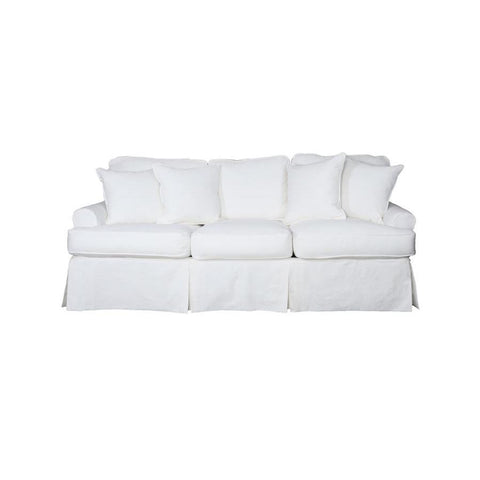 Sunset Trading Horizon Slipcovered Sofa - Performance White