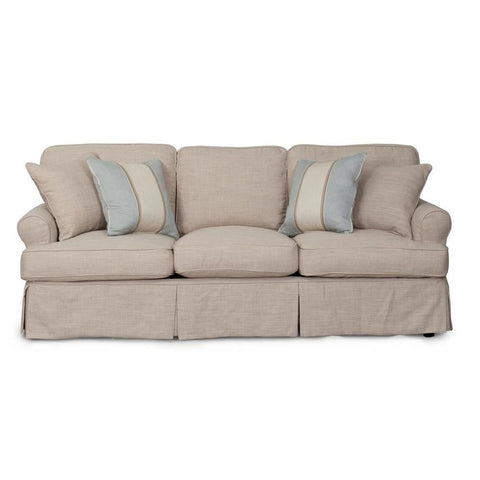 Sunset Trading Horizon Slipcovered Sofa in Linen