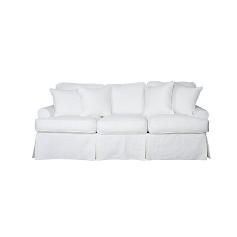 Sunset Trading Horizon Slipcovered Sofa in Warm White