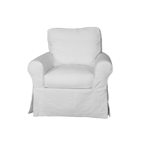 Sunset Trading Horizon Swivel Chair - Slip Cover Set Only - Warm White