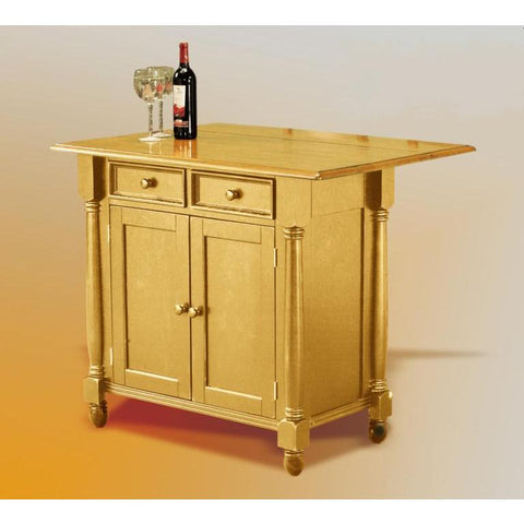 Sunset Trading Light Oak Kitchen Island with Drop Leaf