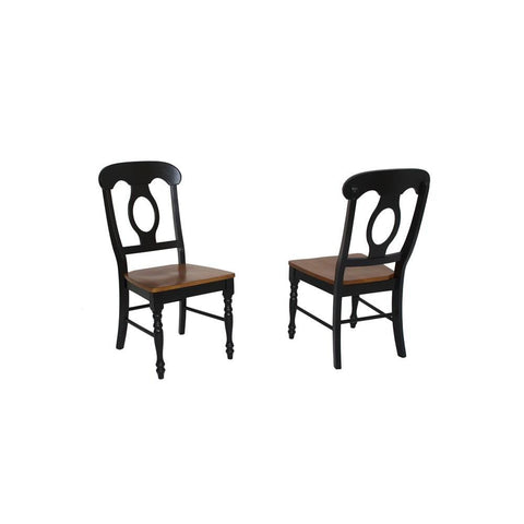 Sunset Trading Napoleon Dining Chair in Distressed Antique Black & Cherry