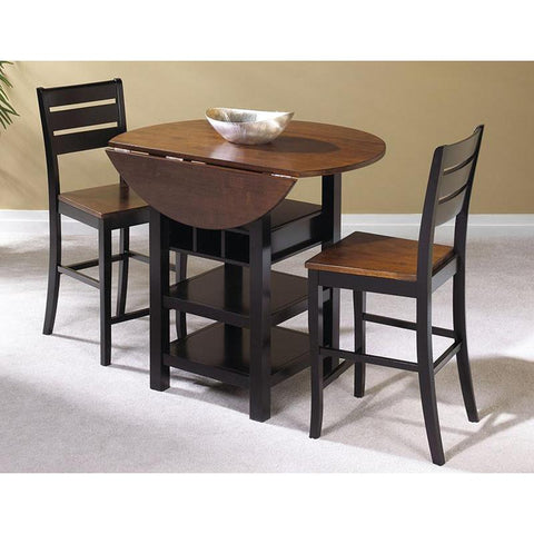 Sunset Trading Quincy 3 Piece Drop Leaf Pub Table Set