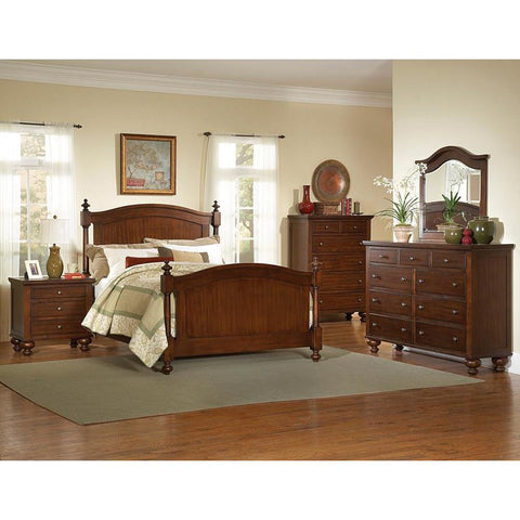 Sunset Trading Royal Cherry 5 Piece King Bedroom Set in Warm Cherry