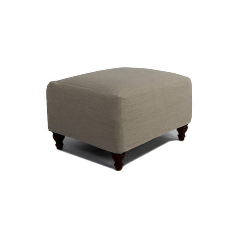 Sunset Trading Seacoast Slipcovered Ottoman in Light Gray