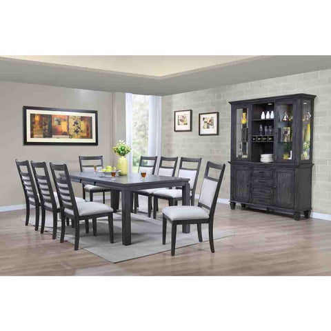 Sunset Trading Shades of Gray 11 Piece Dining Set w/China Cabinet