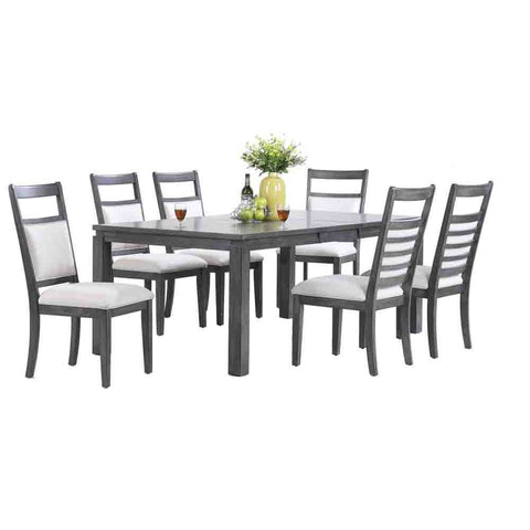 Sunset Trading Shades of Gray 7 Piece Dining Set