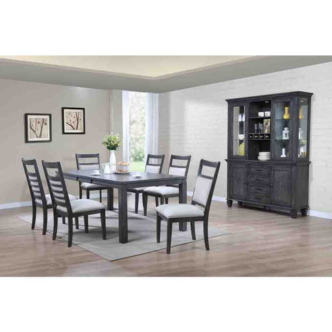 Sunset Trading Shades of Gray 9 Piece Dining Set w/China Cabinet