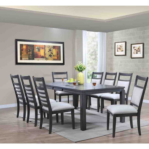 Sunset Trading Shades of Gray 9 Piece Dining Set