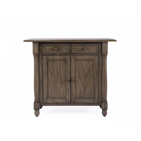 Sunset Trading Shades of Gray Drop Leaf Kitchen Island