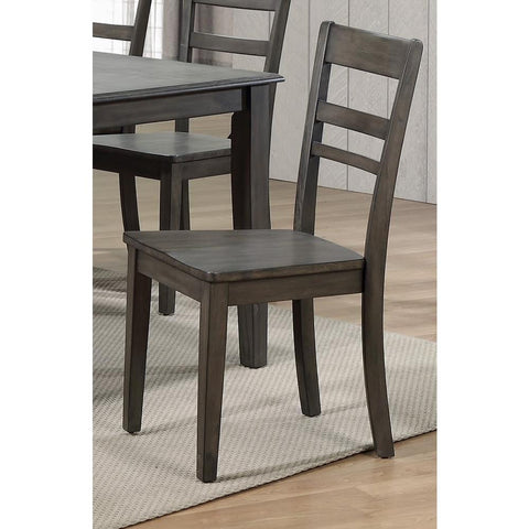 Sunset Trading Shades of Gray Slat Back Dining Chair in Weathered Grey