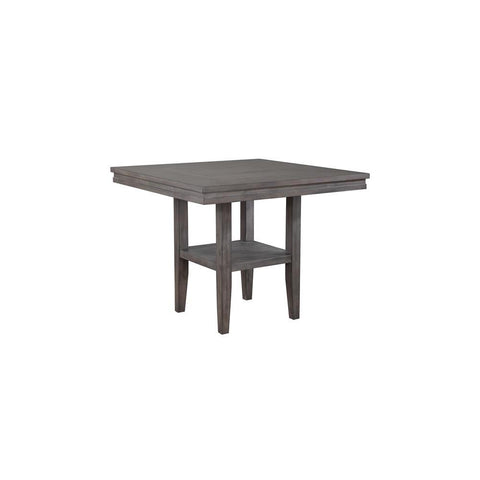 Sunset Trading Shades of Gray Square Pub Table w/Shelf in Weathered Grey