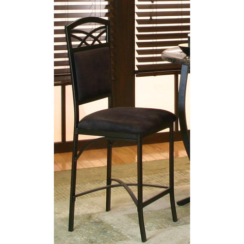 Sunset Trading Sierra Counter Height Barstool in Black