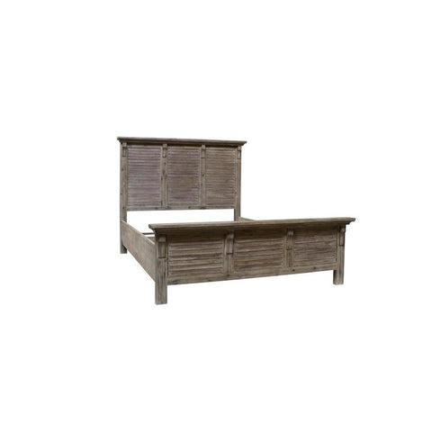 Sunset Trading Solstice Grey Platform Bed in Weathered Gray & Brown