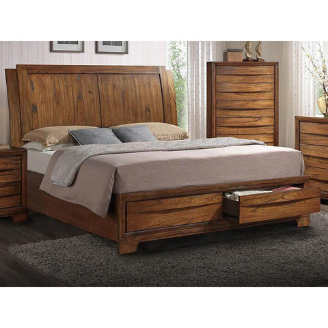 Sunset Trading Sonoma Storage Sleigh Bed in Warm Chestnut