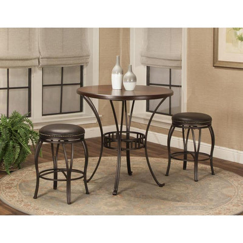 Sunset Trading Victoria 36 Inch Round 3 Piece Pub Table Set