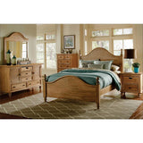 Sunset Trading Vintage Casual 5 Piece King Bedroom Set in Plantation Maple