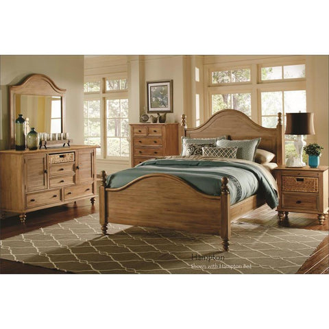 Sunset Trading Vintage Casual 5 Piece Panel Bedroom Set in Plantation Maple