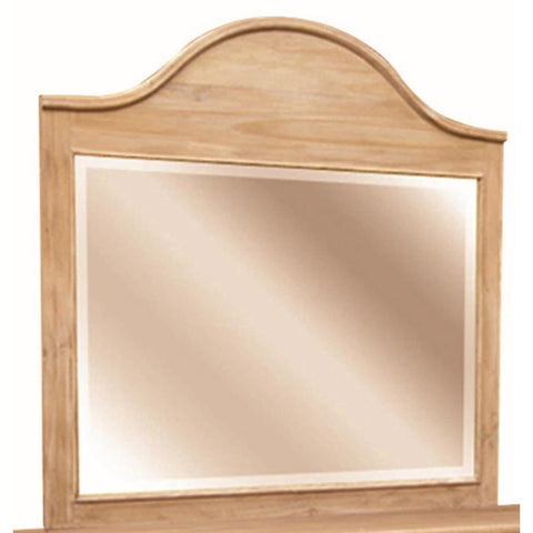 Sunset Trading Vintage Casual Mirror in Plantation Maple
