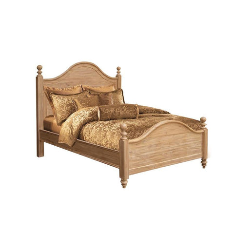 Sunset Trading Vintage Casual Panel Bed in Plantation Maple