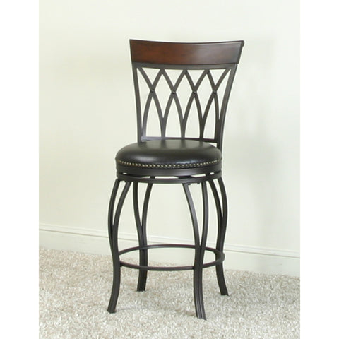 "Sunset Trading Waterloo Highback 24"" Swivel Counter Stool"