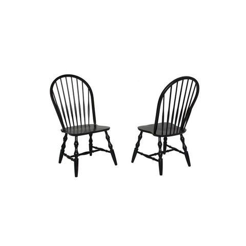 Sunset Trading Windsor Spindleback Dining Chair in Antique Black