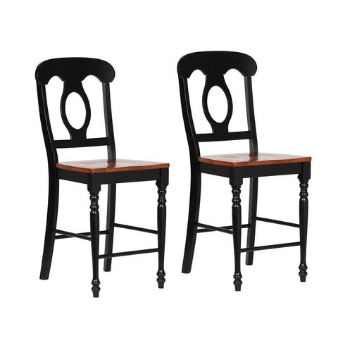 Sunset TradingNapoleon Barstool in Antique Black w/Cherry Seat