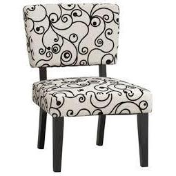 Taylor Accent Chair - White Black Circles