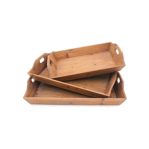 Screen Gems Wood Tray Set Of Three TD-006