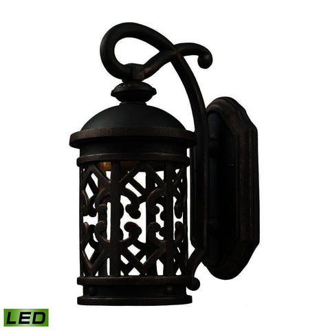 Thomas Tuscany Coast 1 Light Outdoor Led Sconce In Weathered Charcoal