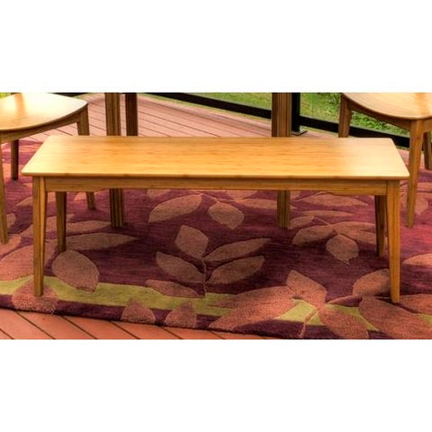 Greenington Tulip Bench In Caramelized Finish