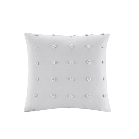 Urban Habitat Brooklyn Cotton Jacquard Pom Pom Square Pillow 20x20""
