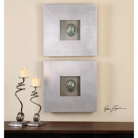 Uttermost Abalone Shells Silver Wall Art Set Of 2