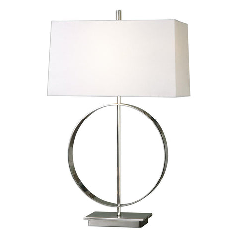 Uttermost Addison Polished Nickel Lamp