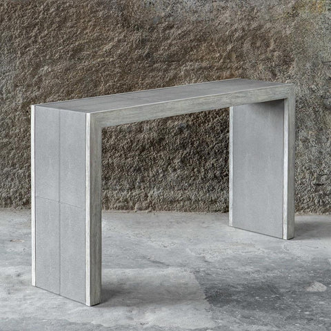 Uttermost Aerina Aged Gray Console Table