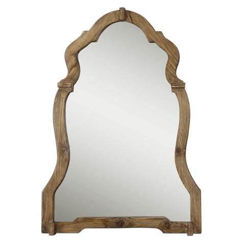 Uttermost Agustin Arched Wall Mirror in Walnut Stained