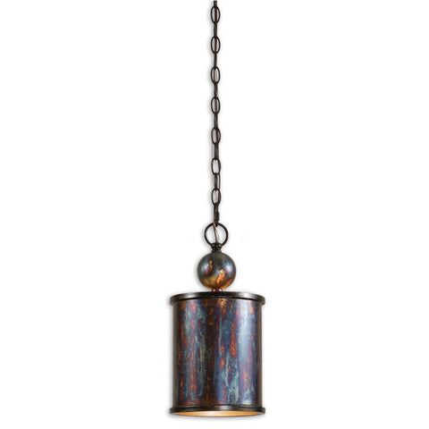 Uttermost Albiano 1 Lt Mini Pendant w/ Metallic Oxidation