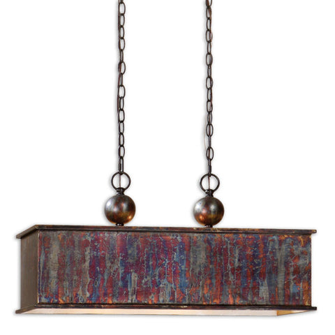 Uttermost Albiano Rectangle 2 Lt Pendant w/ Metallic Oxidation