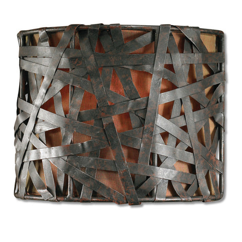 Uttermost Alita 1 Lt Wall Sconce in Aged Black