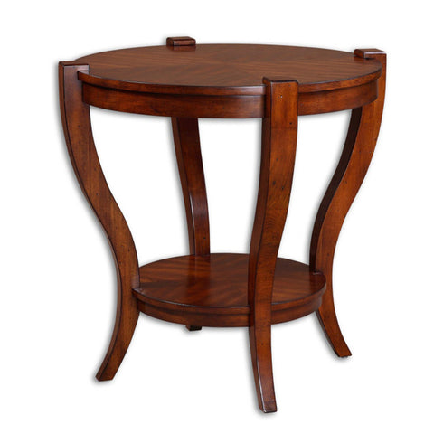 Uttermost Bergman End Table in Warm Antique Pecan